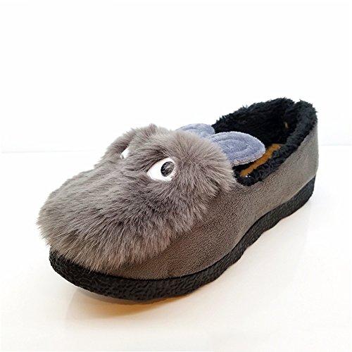 de A Chanclas Zapatos las Opcional Tamaño opcional de Color plano de Cómodo 35 de mujeres Tamaño las los señoras ocasional Aumentado 3 Color A Zapatos Zapatos guisantes algodón Z6Z8S