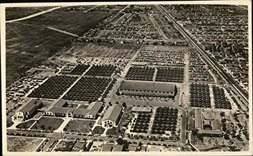 - Aerial View of Tent City Army California Original Vintage Postcard