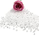 OurWarm 1000 Diamond Table Confetti Wedding Banquet Favor Acrylic Crystal Beads Vase Beads Craft Jewels Bridal Shower Party Decor 1 Carat / 6.5mm White