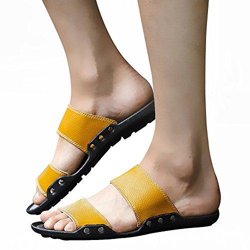 Giallo Uomo Yellow sulla Yirenhuang 40 Aperte Caviglia qt47Iv