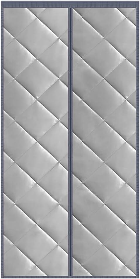 HMHD Aislamiento Cortina Mosquitera Magnética, Aislante Ventana Imanes Cortina de Puerta Aislamiento Acústico Anti-Frio, para Dormitorio, Cocina -Gray-80x205CM: Amazon.es: Hogar