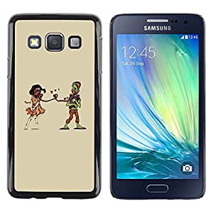 Shell-Star Arte & diseño plástico duro Fundas Cover Cubre Hard Case Cover para Samsung Galaxy A3 / SM-A300 ( Weird Apocaluptic Love )