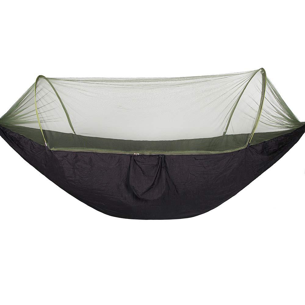 Bwiv Amaca da Campeggio Con Zanzariera Portatile Ultraleggero Amaca Outdoor Paracadute Nylon Portata massima 200 kg Per Escursionismo Backpacking Viaggi