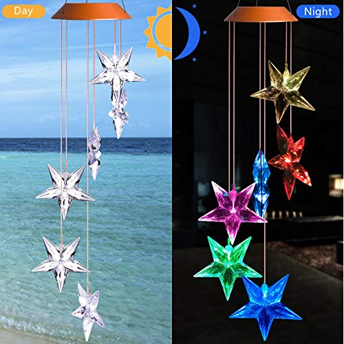 Solar Powered Light Show Wind Chime