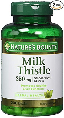 - Nature's Bounty Milk Thistle 250 mg Capsules 200 ea (Pack of 2)