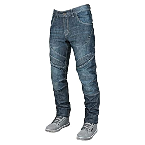 Speed and Strength Rust and Redemption Mens Armored Moto Street Motorcyle Pants - Blue/Size 34X32