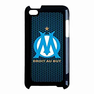 Hard Plastic Design Phone Funda Cover For IPod Touch 4th,Olympique De Marseille Logo Phone Protector
