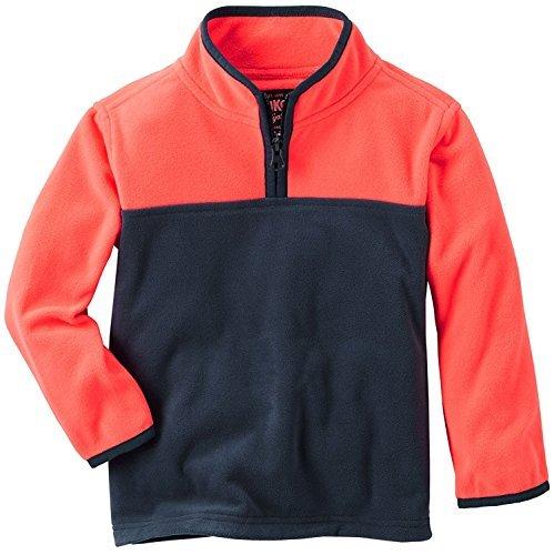 OshKosh B'Gosh Boy's Quarter Zip Color-Block Fleece Jacket - Jacket Quarter Zip Colorblock