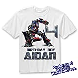 Transformers Birthday Shirt Add Name & AGE, Optimus Prime (Transformers) Birthday Personalized Custom T Shirt