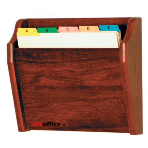 Wooden Mallet CH14-1 Mahogany Single Pocket Wall Mounted File/Chart Holder