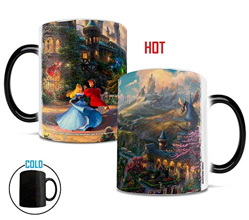 Prince Disney Sleeping Beauty - Disney - Sleeping Beauty - Dancing in the Enchanted Light - Thomas Kinkade - Morphing Mugs Heat-Sensitive Mugs - by Trend Setters Ltd.