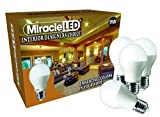 MiracleLED 604363 Home Interior Designers Choice LED Enhancing Bulb Replace 65W-Miracle (4 Pack), White, 4 Piece