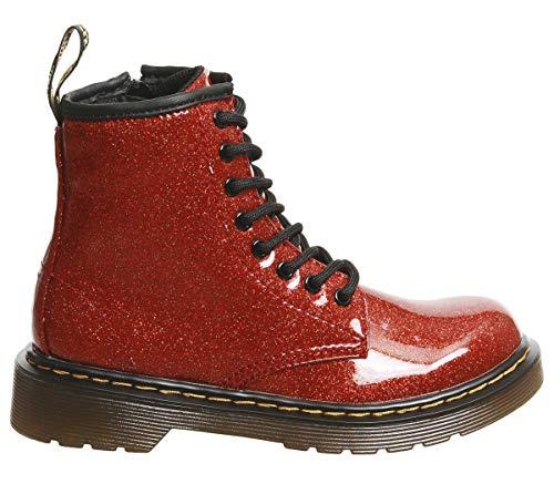 Dr. Martens Kid's Collection Girl's 1460 Patent Glitter Junior Delaney Boot (Little Kid/Big Kid) Red Multi Coated Glitter 2 M -