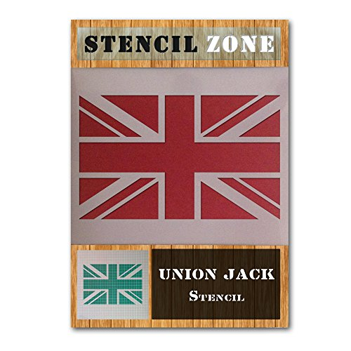 - Union Jack National Flag Mylar Airbrush Painting Wall Art Stencil (A3 Size Stencil - Medium)