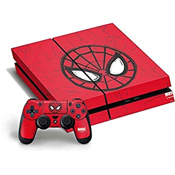 Amazon Com Spider Man Ps4 Controller Skin Red And Black