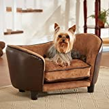 Enchanted Home Pet Ultra Plush Snuggle Bed, 26.5 by 16 by 16-Inch, Pebble Brown