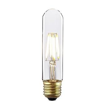Desk Light Bulbs: Kiven Tubular Dimmable Instant On Filament Led bulbs 4W 110V T10 Led Light  Bulb 360 Degree No ...,Lighting