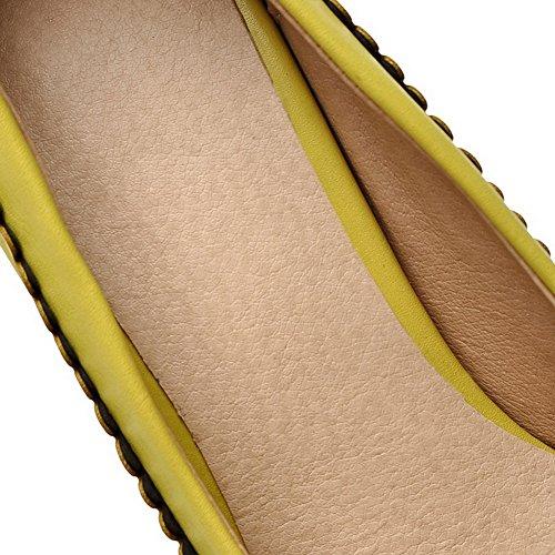 Balamasa Mujeres En Los Tacones Altos Zapatos Sólidos Bombas Amarillas