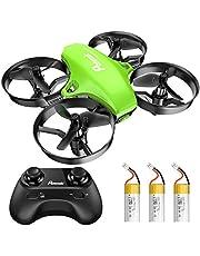 Potensic A20 Mini Drone voor kinderen, met 3 batterijen, Afstandsbediening Quadcopter met, Auto zweven, Headless Mode, Gemakkelijk te vliegen, Speelgoed voor kinderen, Groen