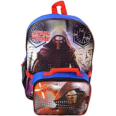 "Star Wars Ep7 16"" Backpack with Lunch Kit with Sublimation Printing"