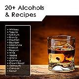 1 Liter Whiskey Oak Barrel for Aging – Golden Oak Barrel with Black Steel Hoops – Aging and Recipes Digital Guide included
