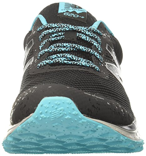 New Balance Womens Cushioning 620v2 Trail Running Scarpa Nero / Vivido Ozono Blu