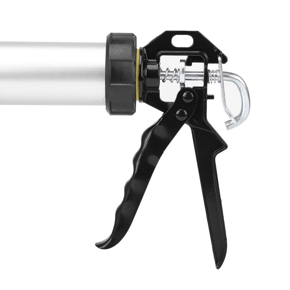Pistola de Calafateo de Silicona con Tubo de Aluminio Herramienta de Calafateo de 600 ml con 10 Boquilla