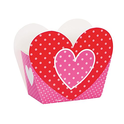 Polka Dot Heart Valentine's Day Favor Boxes, 8ct