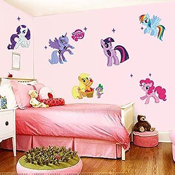 Kibi Unicornio Pegatinas de Pared de Unicornio Para Ni/ñas Ni/ños Dormitorio Pegatinas Unicornio Pared Pegatina de Pared Acuarela Mundo de Unicornio Stickers Unicornio Pared