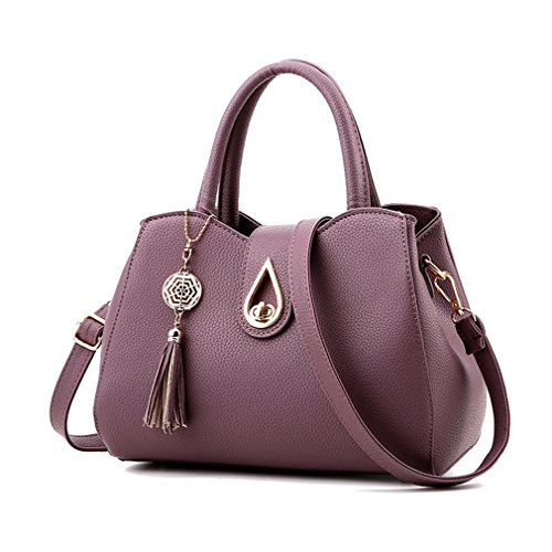 Purple Satchel Handbag - 3