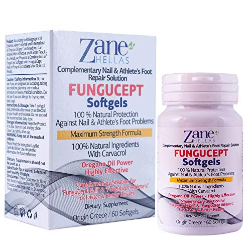 Fungucept Softgels. Supportive Nail & Athlete's Repair Solution. 100% Natural 108 mg of Carvacrol. Faster and Better Results. 60 Softgels by Zane Hellas ()