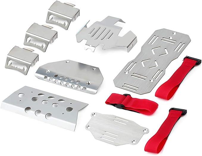 INJORA RC Skid Plate RC Conjunto de Armaduras de Chasis Chassis Armor Protector Plate para 1:10 RC Crawler Traxxas TRX-6 G63 6X6