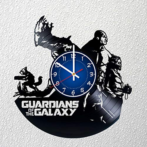 GUARDIANS OF THE GALAXY Art 12 inches / 30 cm Vinyl Record Wall Clock | Fan Gift | GAMORA Clock | Children's Room Decor Idea | MARVEL Drax Home Art Party STAR-LORD Movie art | CHRISTMAS | I AM GROOT]()