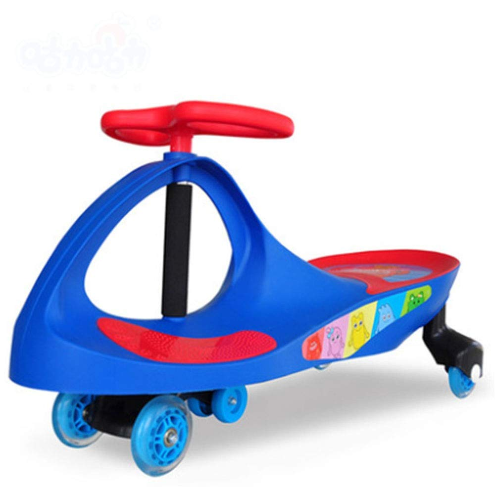 Wiggle Scooter Car Lil' Rider– Ride On Toys for Boys and Girls Car Ride On Toy Wiggle Car by (Color : Blue, Size : 803027.5CM)