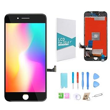 GLOBALGOLDEN Reemplazo de Pantalla para iPhone 7 Negro,4.7 Pulgadas Pantalla táctil LCD y ensamblaje
