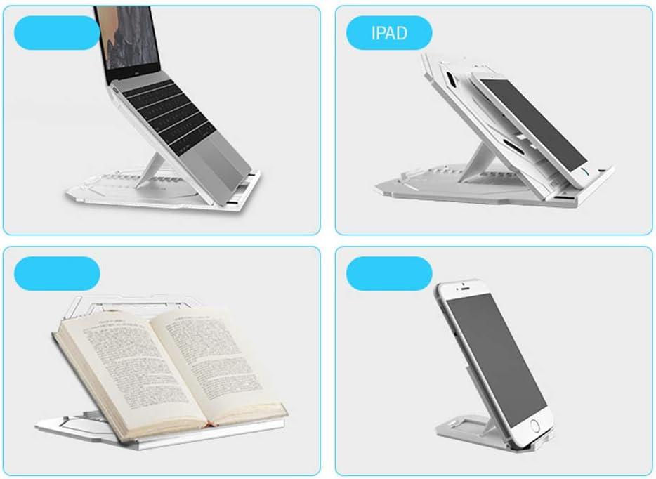 Hwhwxs Notebook Stand with Mobile Phone Bracket Multi-Angle Adjustment Laptop Stand Multicolor Optional,Black Notebook heatsink Radiator
