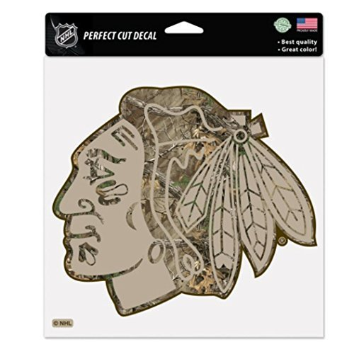 Wincraft NHL Officially Licensed Chicago Blackhawks 8x8 Camo Die-Cut Decal