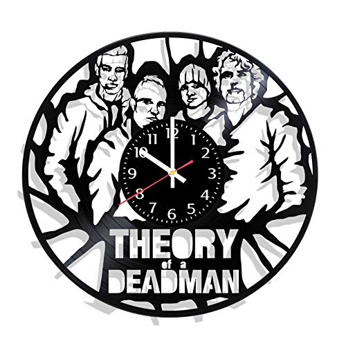 Theory of a Deadman Vinyl Record Wall Clock Handmade for Kitchen, Office, Bedroom Ideal Wall Poster -