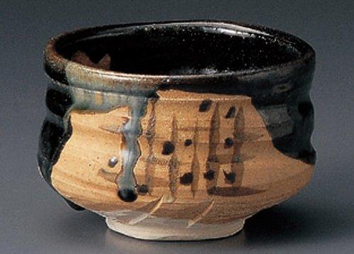 BLACK-ORIBE 4.6inches MATCHA BOWL TOHKI Japanese Pottery by Watou.asia