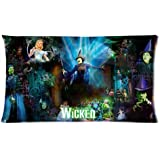 Custom WICKED The Musical Broadway Rectangle Pillowcase Covers 20x36 (two side)