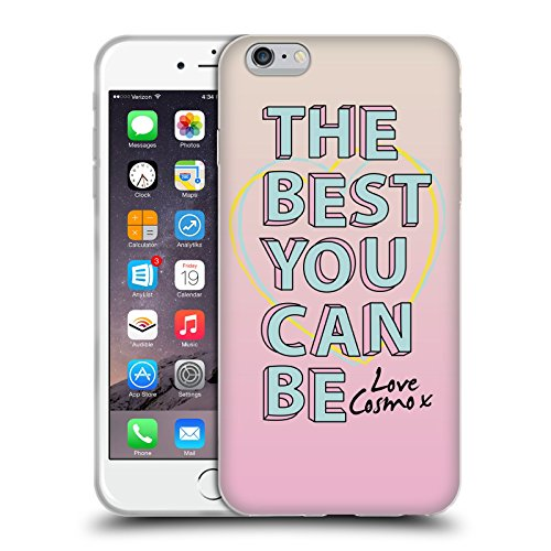 Official Cosmopolitan Pink Slogan Pastels Soft Gel Case for Apple iPhone 6 Plus / 6s Plus