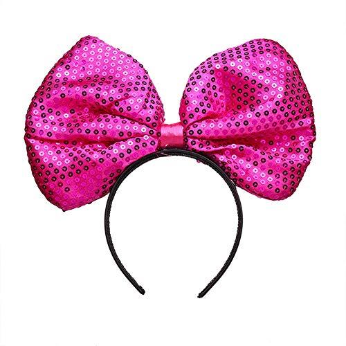 YAZILIND Sequin headband big bow headdress Halloween carnival hair accessories hairband(#4)