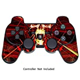 GameXcel ® Sony PS3 High Gloss Controller Skin - Custom Playstation 3 Remote Vinyl Sticker - Play Station 3 Joystick Decal - Skull Dark Red [ Controller Not Included ]