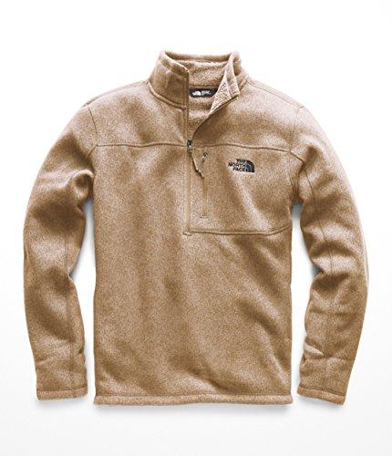 The North Face Men's Gordon Lyons 1 & 4 Zip - Cargo Khaki Heather - (Brown Heather Sweater)