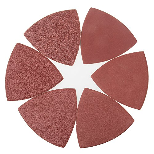 Exsart 60 Pcs Triangular Hook & Loop Abrasive Paper Sandpaper Sanding Sheets for Wood Universal Oscillating Fein Dremel Bosch Makita Rockwell