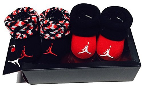Nike Jordan Infant Boy's 2-Pair Booties, 0-6 Months