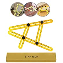 STARRICH Angleizer Template Tool ABS Measures All Angles and Forms Angle-izer Angle Template Tool Multi-Angle Ruler For Engineer(CA-LT-001)