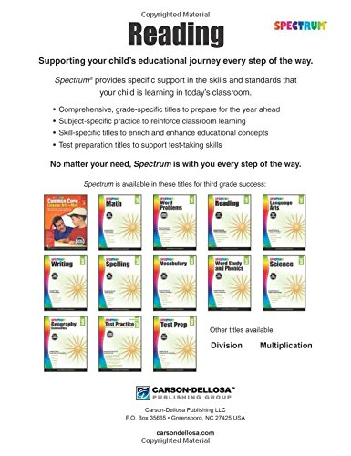 Spectrum Reading Workbook, Grade 3