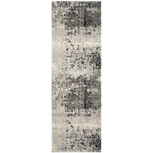 [Safavieh Retro Collection RET2139-7980 Modern Art Deco Light Grey and Grey Runner (2'3