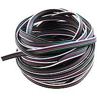 10M/33Ft RGBW LED Extension Cable Line, SIM&NAT 5 Pin RGBW/RGBWW 5050 Ribbon LED Strip Wire